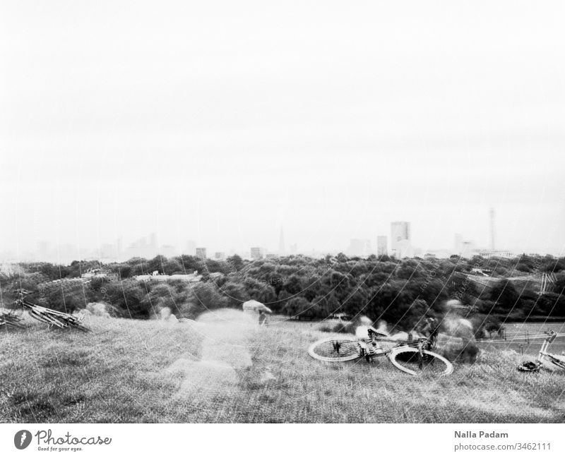 10 minutes view from Primrosehill London city view Skyline Hill Long exposure