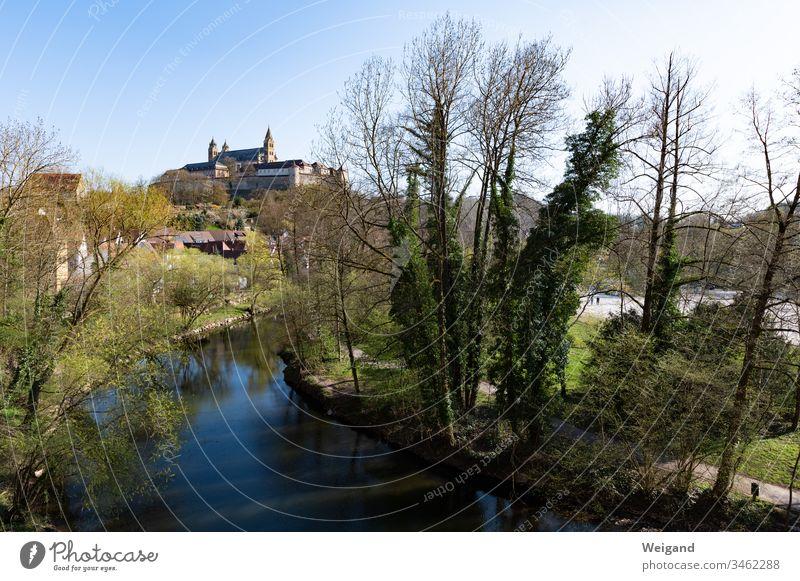 Comburg Schwäbisch Hall Castle Baden-Wuerttemberg kochertal River Church Spring Sky Park Monastery