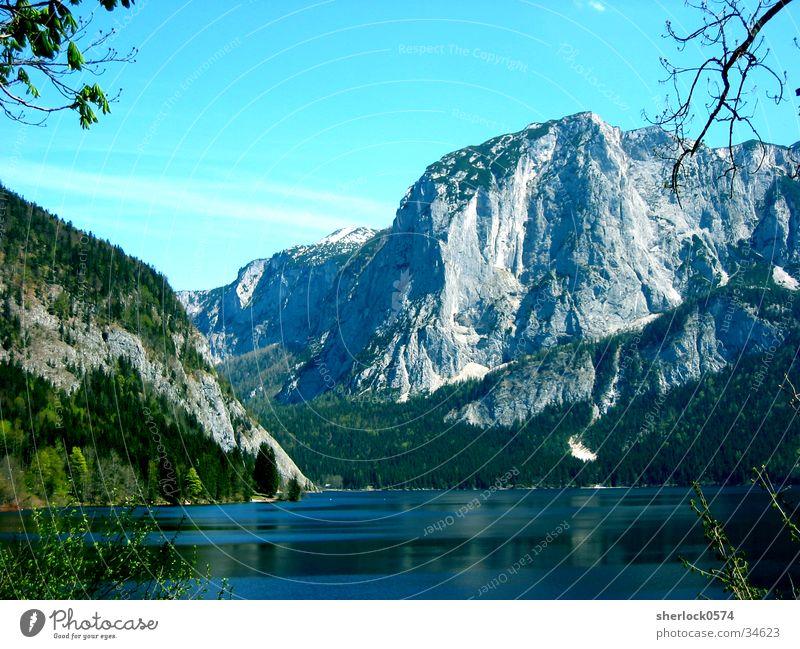 The mountain Lake Calm Tree Mountain Sun Sky