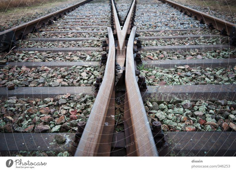 Lanes & trails Stone Metal Transport Railroad Railroad tracks Traffic infrastructure Decide Switch Train travel Rail transport