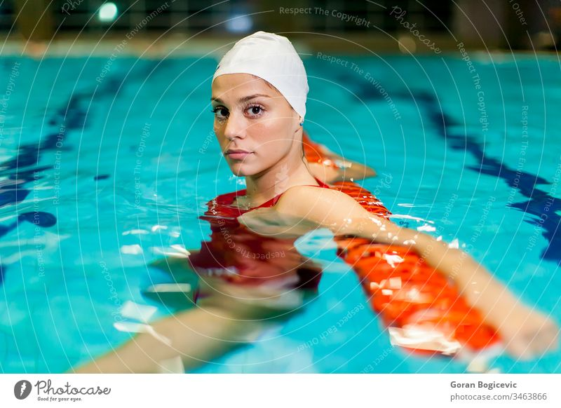 Swimming girl active activity adult being care caucasian competition competitive concentration exercise female fitness health healthcare healthy human leisure
