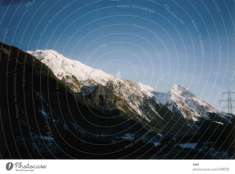 On the way to Innsbruck Austria Winter Mountain Alps Snow Landscape