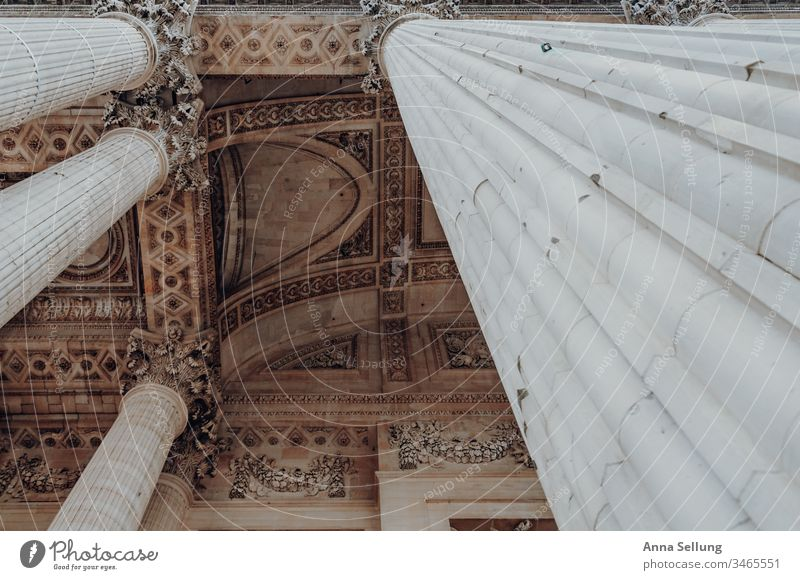 View upwards along a dimensional column on structures in the ceiling view guidance Discover Upward Architecture Column Blanket Observe admire Pastel tone