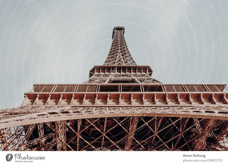 The Eiffel Tower in all its glory eiffel tower France Paris Capital city Steel Manmade structures Europe Tourist Attraction Landmark Architecture Colour photo