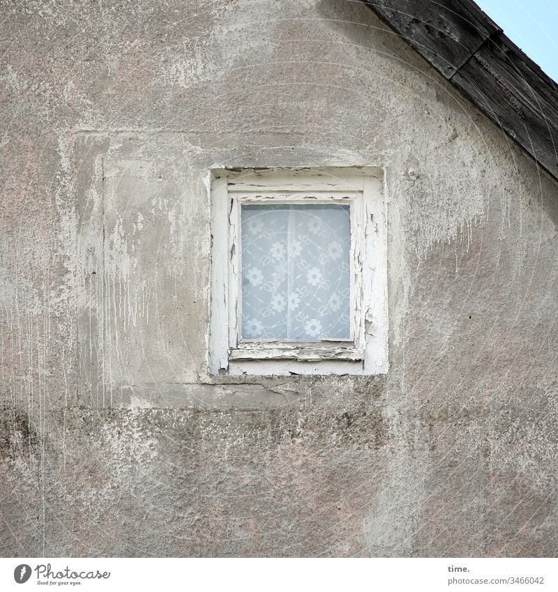 Decoration, no matter how | old House (Residential Structure) Window Curtain Wall (barrier) Roof Old then Former nostalgically Broken Stone Wall (building)