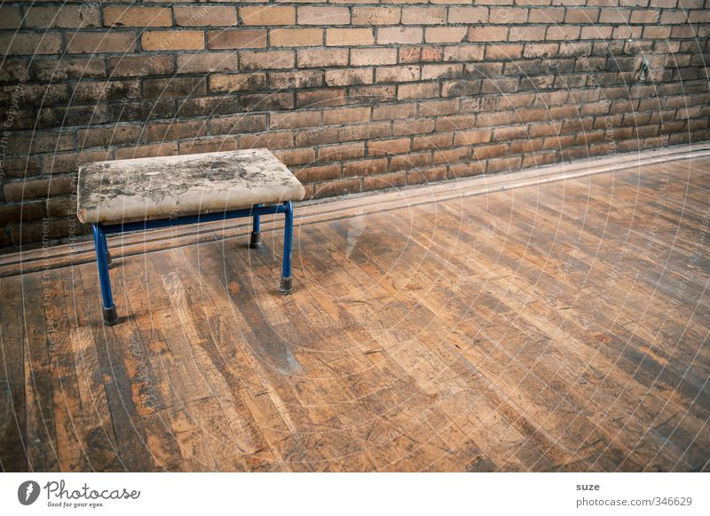 Old Wall (building) Sports Brown Leisure and hobbies Gloomy Authentic Design Places Broken Simple Transience Break Retro Bench Dry