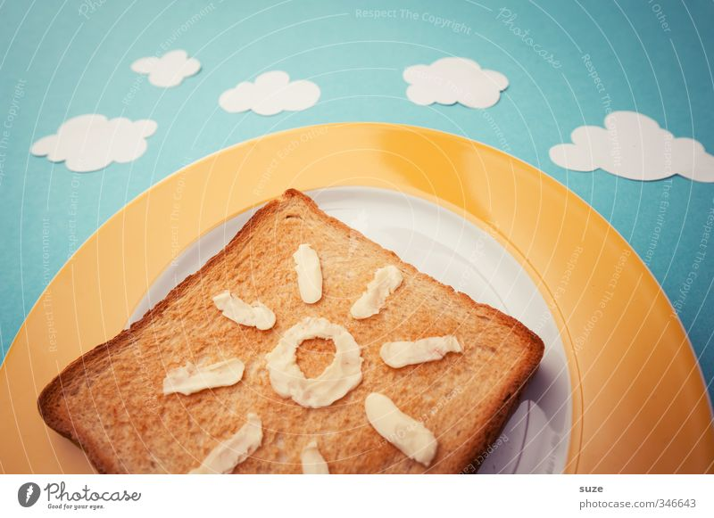 Summer Toast Food Nutrition Breakfast Picnic Organic produce Vegetarian diet Plate Style Design Beautiful Healthy Healthy Eating Sun Sky Clouds Sign Exceptional