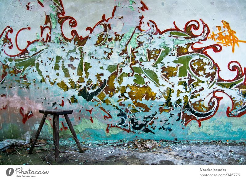 ravages of time... Redecorate Chair Room Youth culture Subculture House (Residential Structure) Building Architecture Wall (barrier) Wall (building) Sign