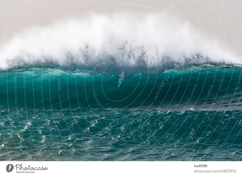 killer wave with spray Surf Wild Waves Ocean Water Turquoise Gigantic Nature Force Vacation & Travel Sal Cabo Verde Fresh Large Bright Maritime Wet Pattern Foam
