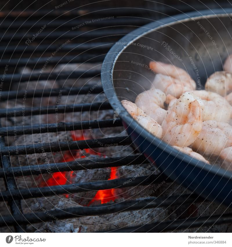 seafood Food Seafood Nutrition Asian Food Pan Camping Hospitality Pure Shrimps Barbecue (event) Barbecue (apparatus) Grill Charcoal (cooking) BBQ season Healthy