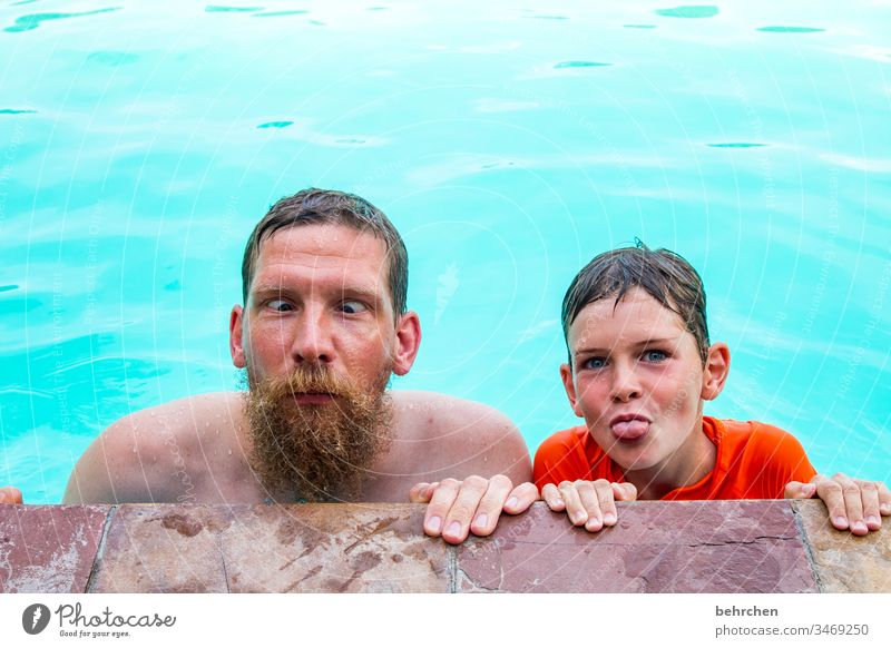 happy father's day portrait Sunlight Contrast Shadow Light Day Exterior shot Colour photo Son Contentment Happiness luck Joy Brash 30 - 45 years Child Tongue