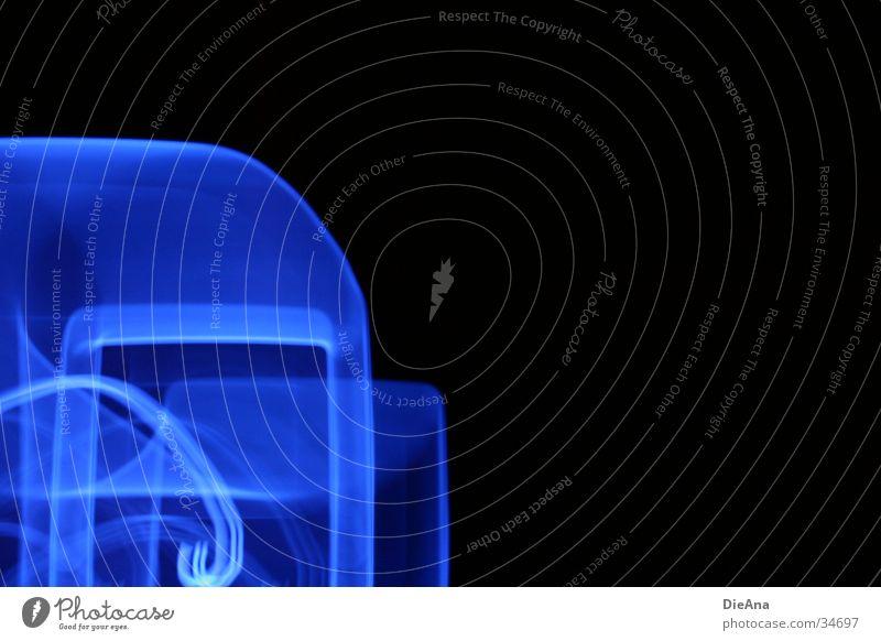 Blue Style Lamp Decoration Dazzle MP3 player