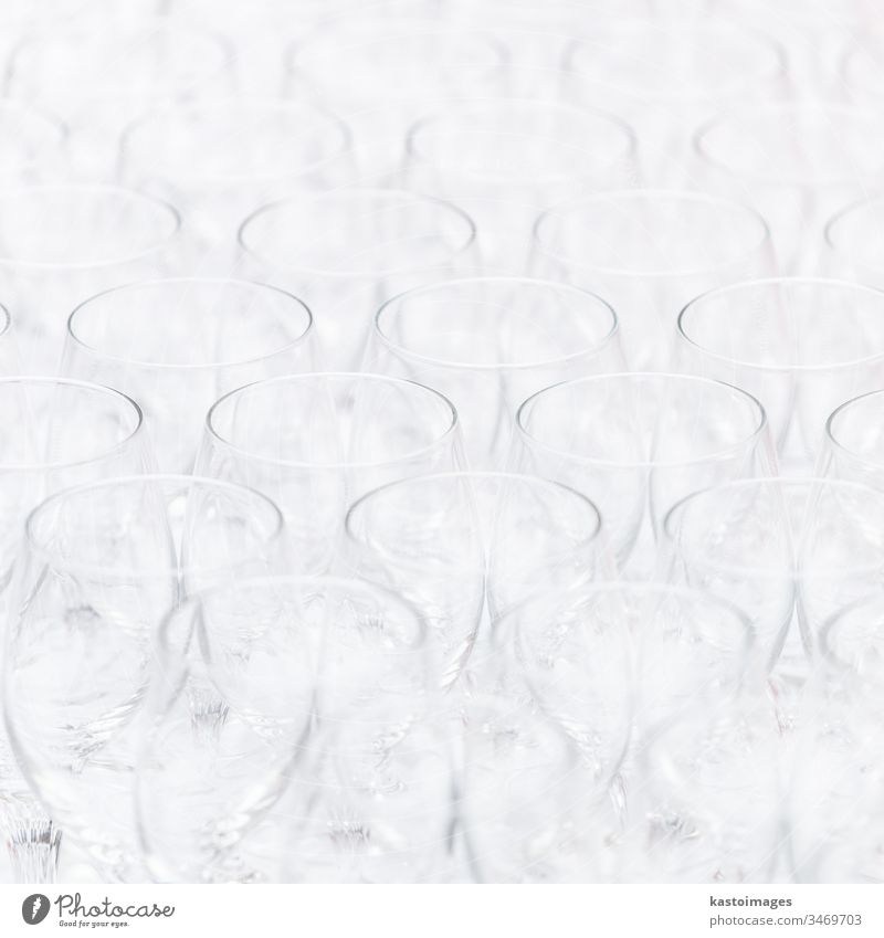 Pattern of empty christal glasses. event wine wine glass pattern closeup background white bar dinner drink elegance crystal champagne celebration clear concept