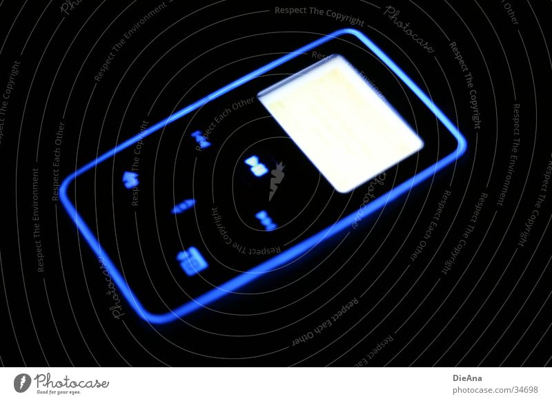Blue Lamp Style Music Technology Electrical equipment MP3 player