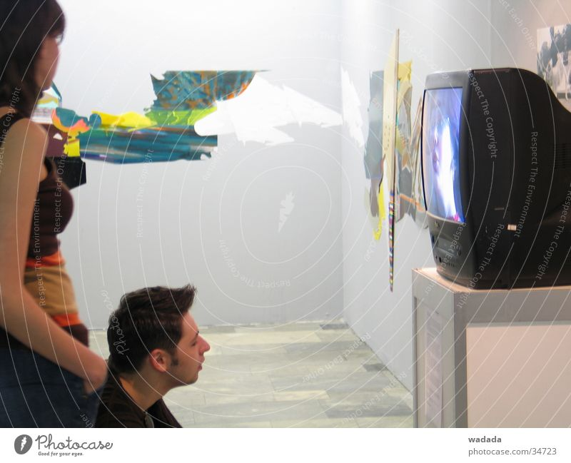 Art-Moscow Exhibition Leisure and hobbies exhibition Television Video type man watching screen