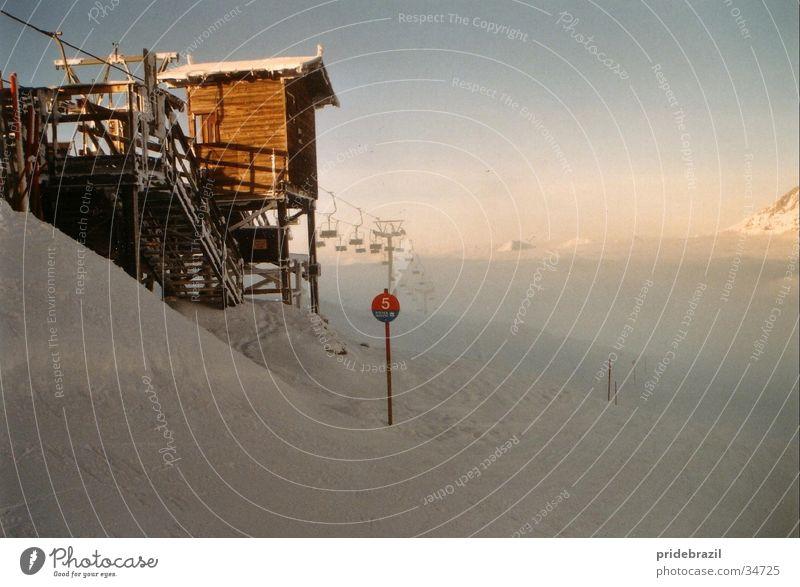 Mystic slope Alpine Romance Cold Panorama (View) Winter Winter sports Vacation & Travel White Mountain Snow Clarity Ski run Large