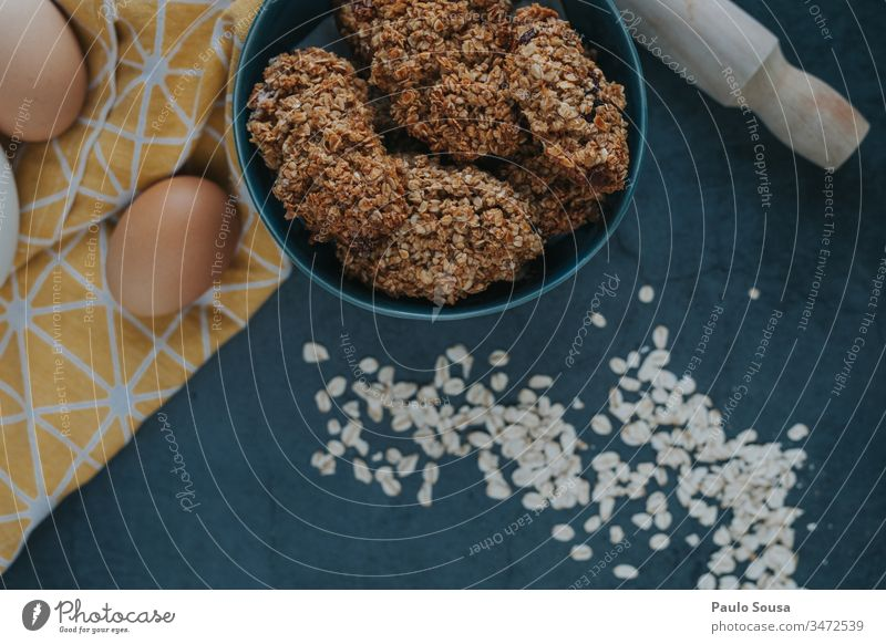 Oats cookies background Cookie Wheat Grain Colour photo Day Nutrition Food Egg Cooking Baking Baked goods Kitchen Fresh Home-made Preparation Flour food Bakery