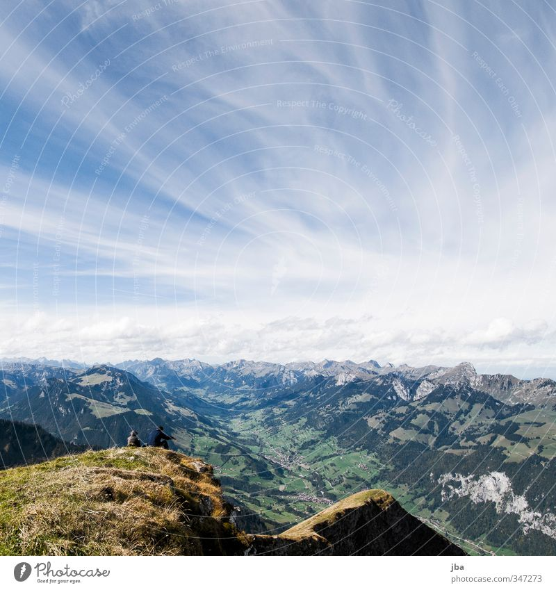 Sky Nature Summer Landscape Relaxation Clouds Environment Far-off places Mountain Autumn Freedom Tourism Hiking Trip To enjoy Peak