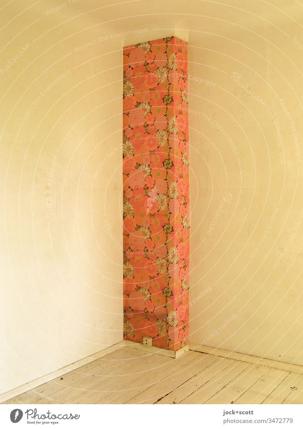 conspicuous corner in the room through pattern Sharp-edged Simple Background picture Corner Wall (building) Design Creativity floral sample wallpaper