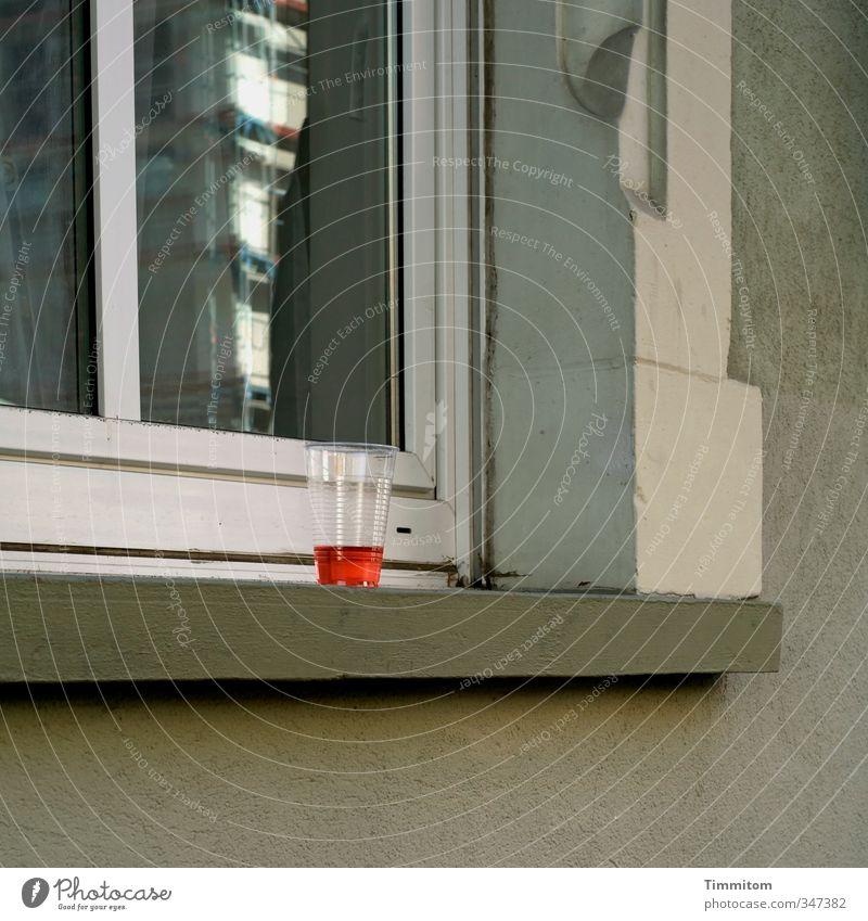 White Red Window Emotions Gray Stone Glass Authentic Wait Stand Crazy Beverage Irritation Window pane Cold drink Heidelberg