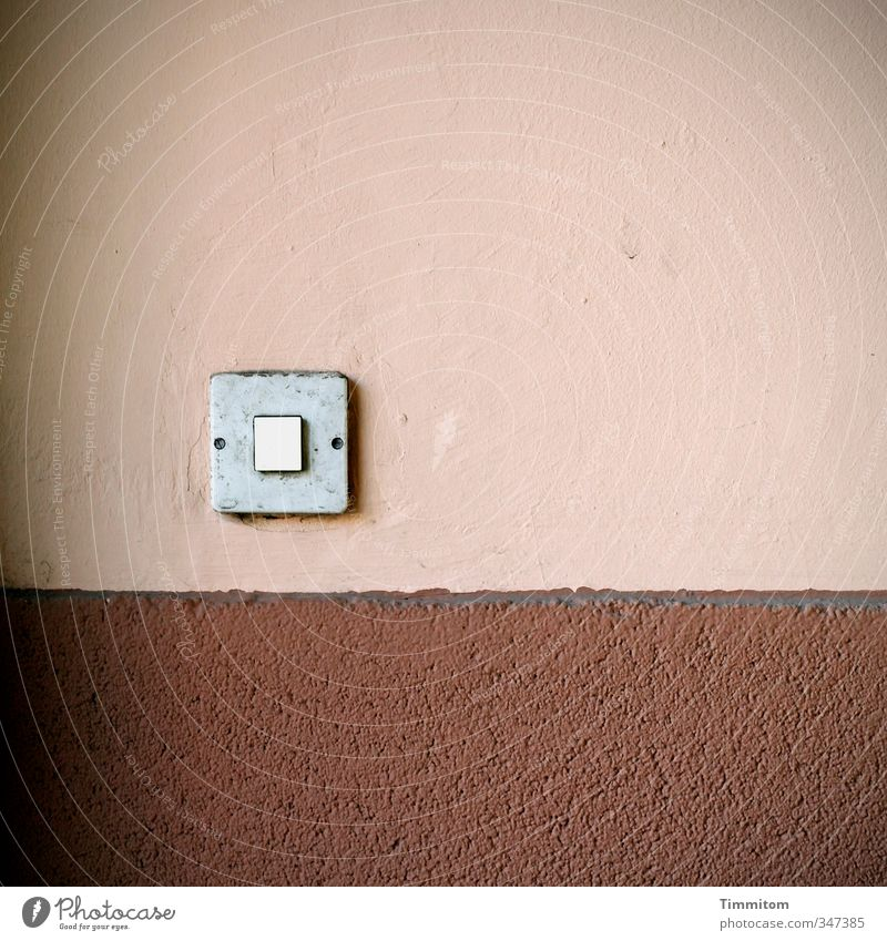 White House (Residential Structure) Dark Line Brown Pink Flat (apartment) Dirty Wait Concrete Simple Plastic Covers (Construction) Key Light switch