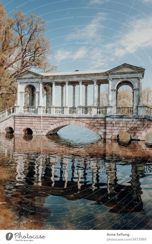 Architecture in spring colours on the lake Structures and shapes reflection Reflection Pastel tone Deserted Colour photo Facade Manmade structures Exterior shot