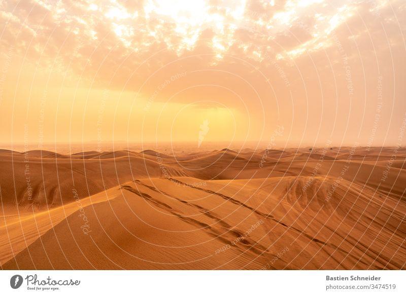 Dubai Desert, United Arab Emirates cm Bird's-eye view Close-up Exterior shot Vertical Majestic magnificent Curved Fantastic textured background Wonderful