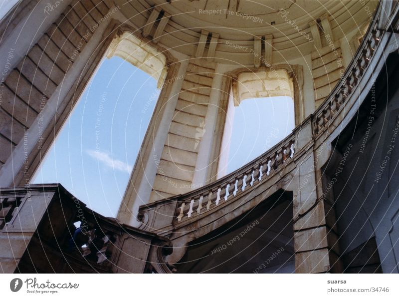 Sky Vacation & Travel Building Religion and faith Stairs Italy Historic Monastery House of worship Naples