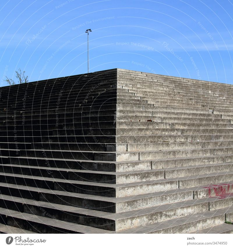 Stairs and lamppost Town Wall (barrier) Wall (building) door Architecture built Facade Line Prefab construction GDR GDR architecture Berlin Pecking order