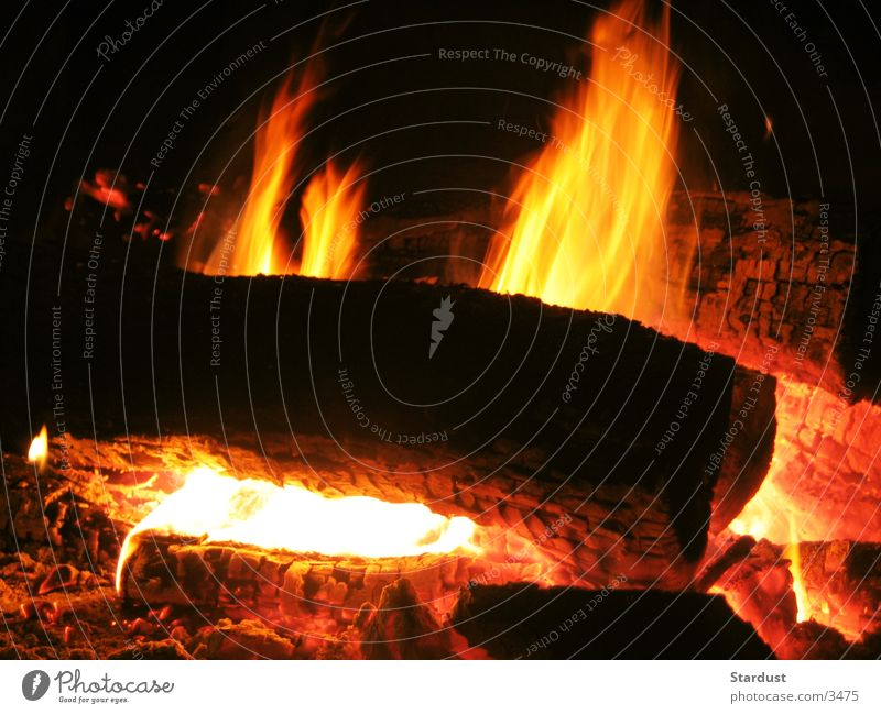 Wood Blaze Flame Embers Combustible
