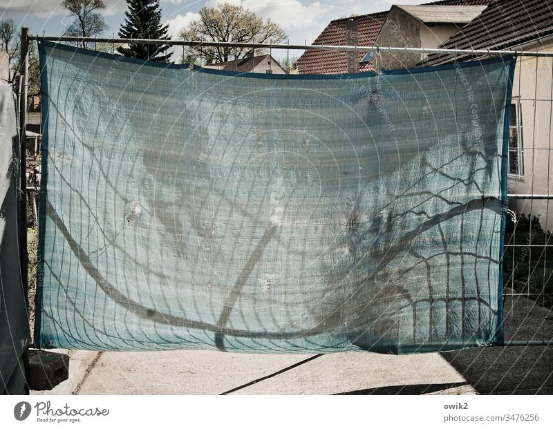 hung tarpaulin Hoarding cordon Tarp Metal Scaffolding houses Street Sunlight Village Shadow Light (Natural Phenomenon) lines Wind convex Stability stable