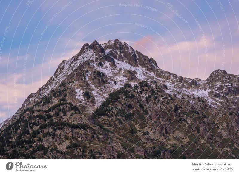 Vall d'Incles landscape with Alt de Juclar peak. Incles, Canillo, Andorra alps andorra andorra la vella architecture beautiful beauty blue bright canillo clear