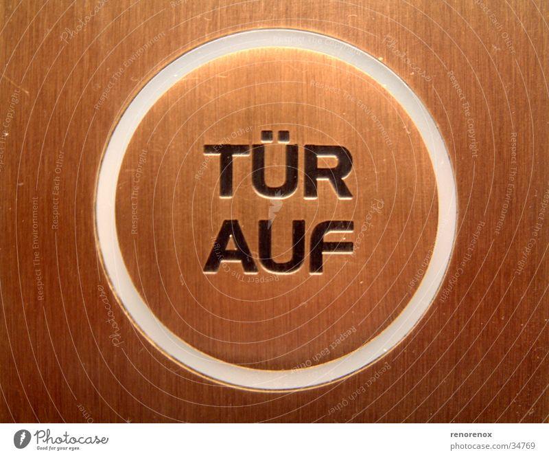 door up Bronze Brown Industry Door button Circle Key