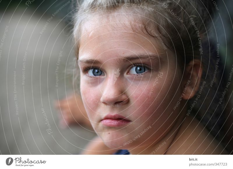 frown Feminine Child girl Infancy Head Face Eyes 1 Human being 8 - 13 years Looking furious Aggravation Grouchy Animosity Aggression Emotions Protest Revolt