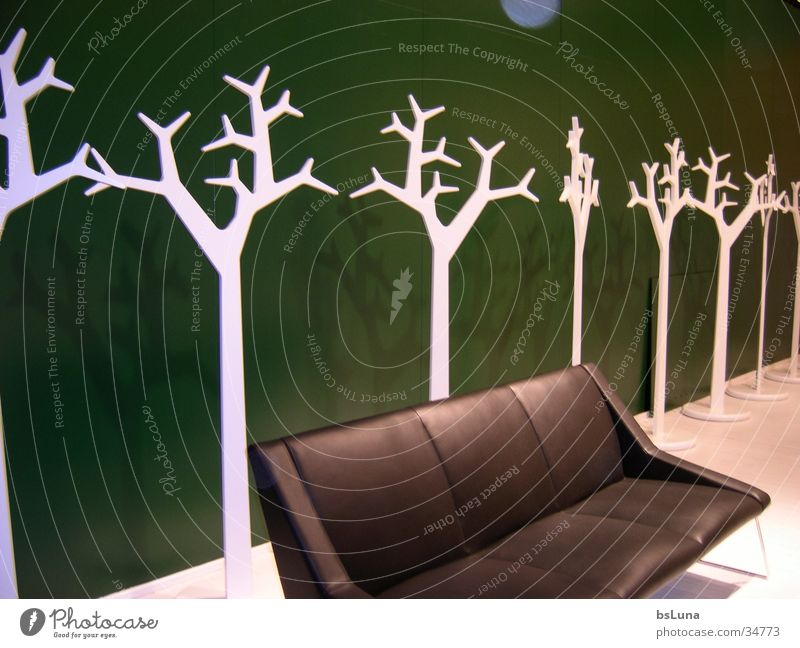 imm05 Sofa Tree Leather Green Black Exhibition stand Living or residing furniture fair
