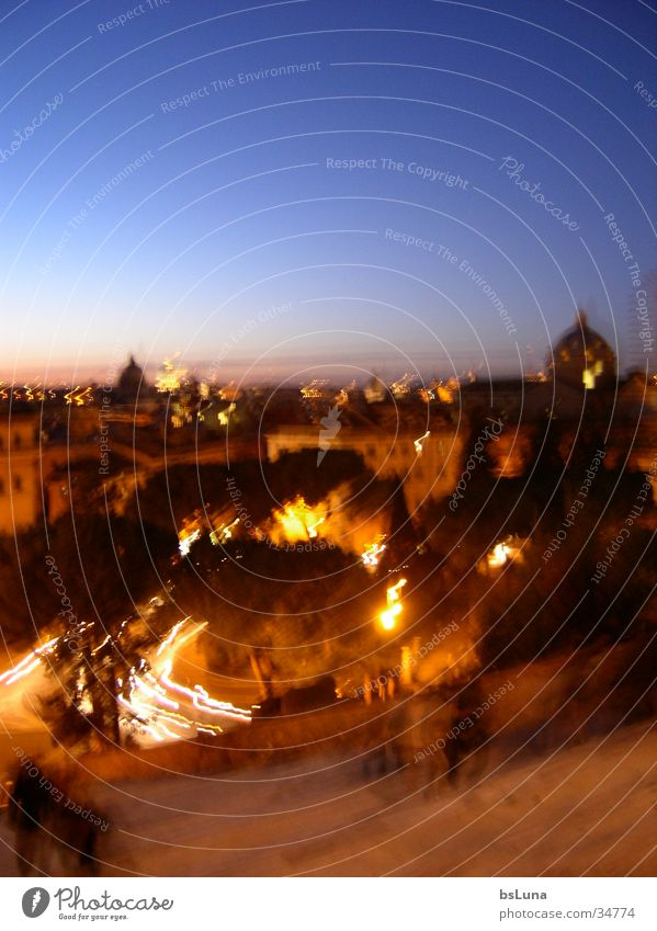 Rome night view Vantage point Italy Night Hill Vatican Domed roof Sublime Europe Blue Orange Review