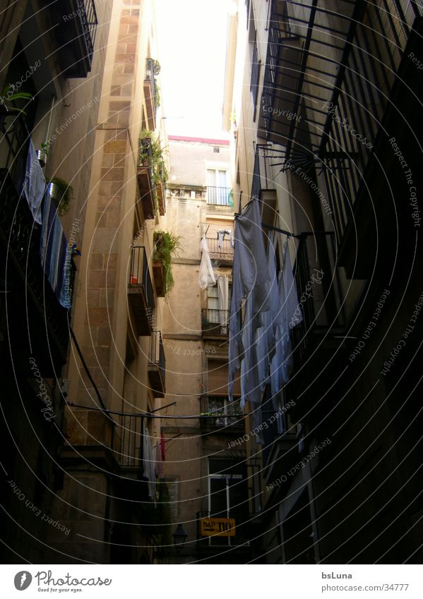 Sun Summer Architecture Spain Narrow Laundry South Alley Old building Old town