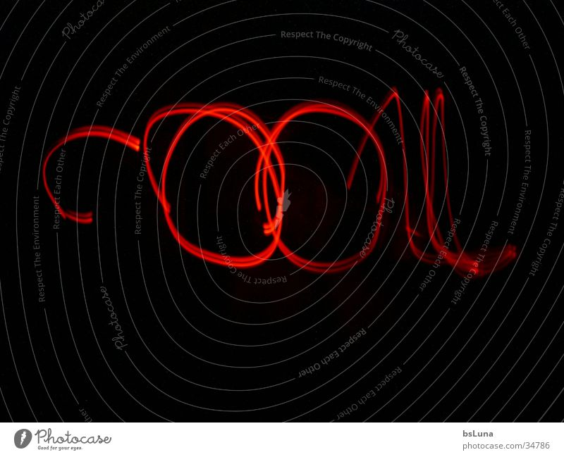 """""""Cool."""" Style Long exposure Red Black Cool (slang) Write LED"""
