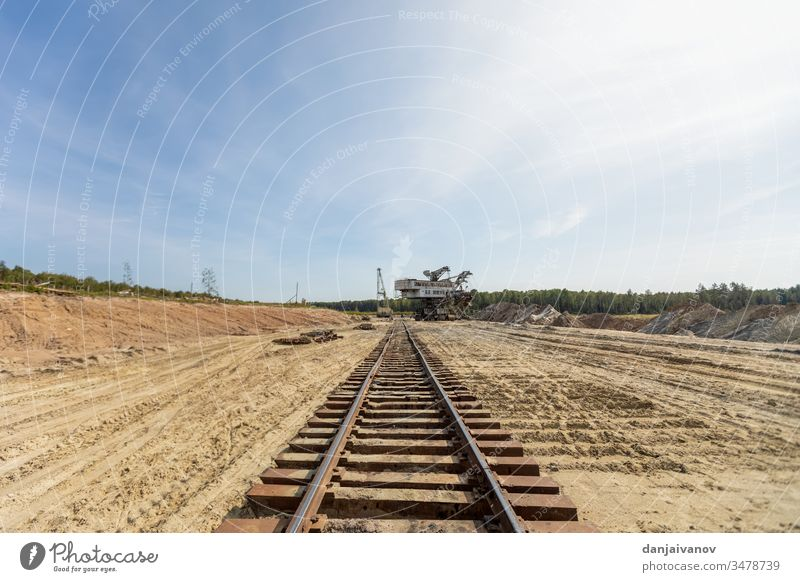 Old railway and railway bridge, rails and piles travel transportation tracks technology column change wheel nature railroad green direction perspective station