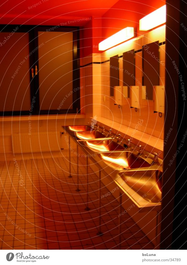 bathroom Bathroom Mirror Red Light Style Architecture watchtowers Modern guard room
