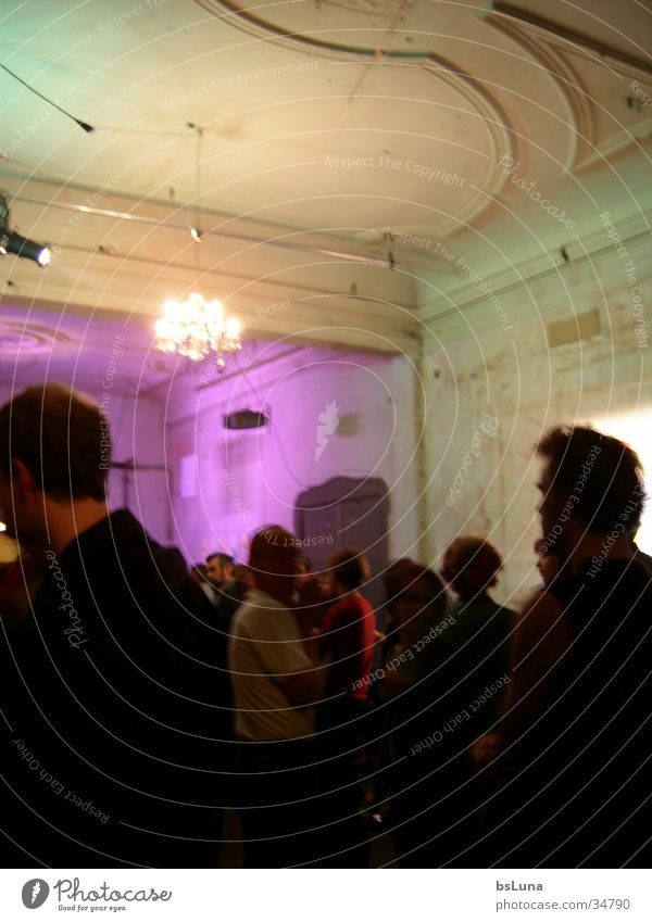 People in Berlin Flat (apartment) House (Residential Structure) Party Art Exhibition Group Human being Old squat house