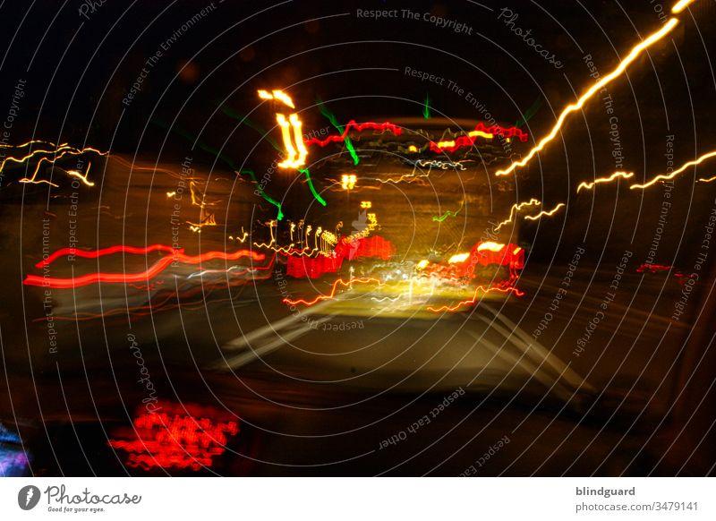 Speed of light. Light in Motion.speed of light Long exposure Transport Road traffic Dark Light (Natural Phenomenon) Exterior shot Traffic infrastructure