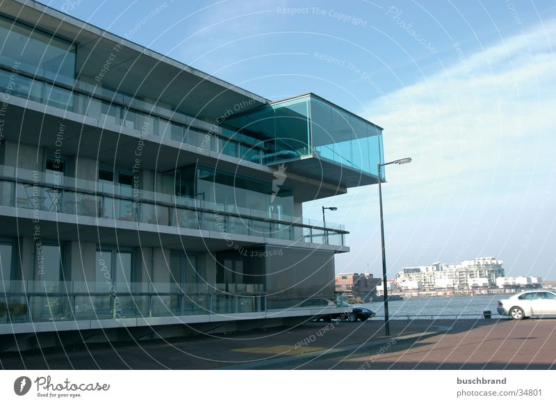 Human Aquarium Design House (Residential Structure) Sky North Sea Amsterdam Netherlands Europe Port City Harbour Architecture Balcony Box Glass
