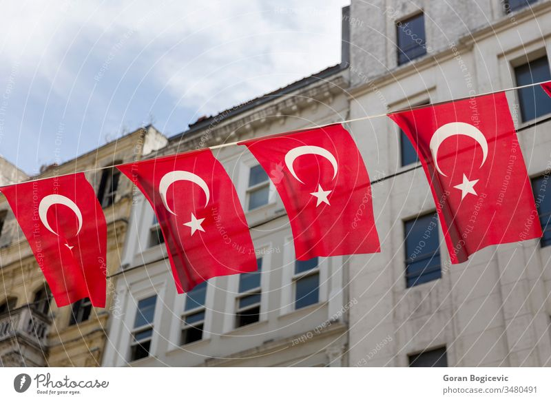 Turkish flags on the street of Istanbul, Turkey red istanbul background turkey turkish national architecture culture travel ancient tourism star wall country