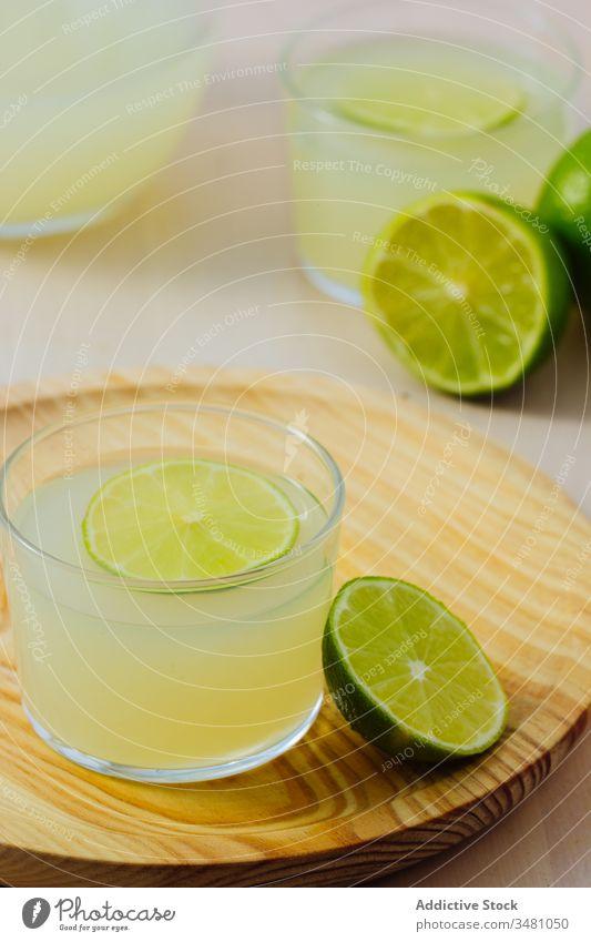 Delicious lemonade served in glasses homemade citrus fruit beverage drink refreshment cold delicious tasty liquid prepared sour vitamin appetizing slice whole