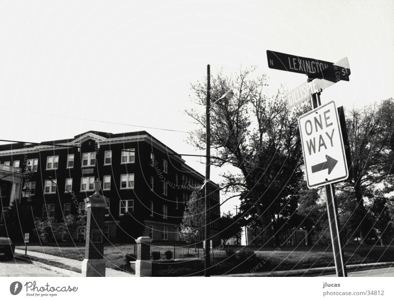 Lexington Ave. Academic studies Architecture dorms one way road sign high school