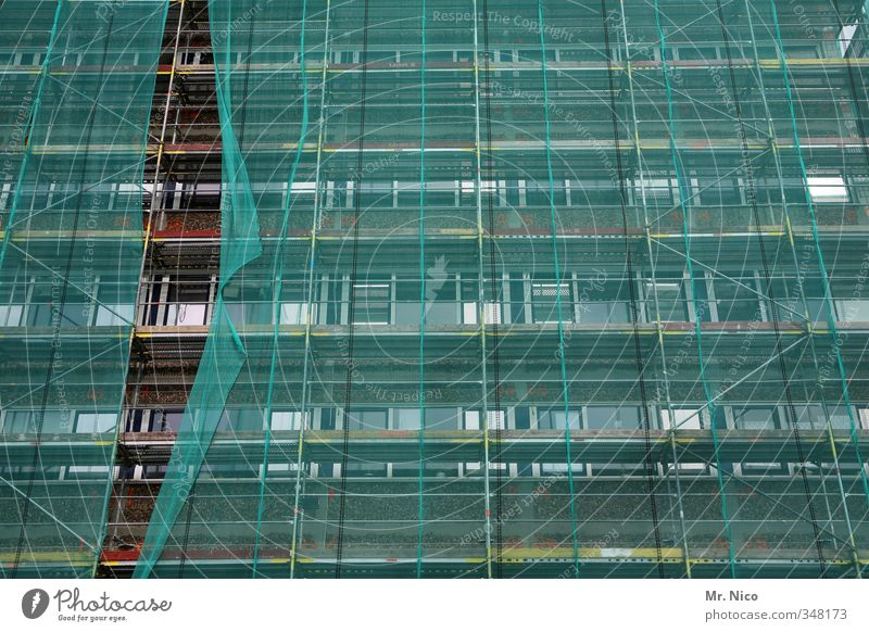 City House (Residential Structure) Window Architecture Building Line Work and employment Facade High-rise Tall Construction site Protection Manmade structures