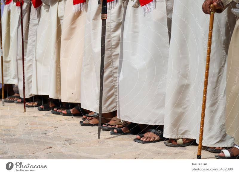 show me your feet. Men's leg Feet Human being Man Toes Adults Barefoot Summer Colour photo Day Stand Masculine Tradition traditionally Arab Oman Sandal Sandals