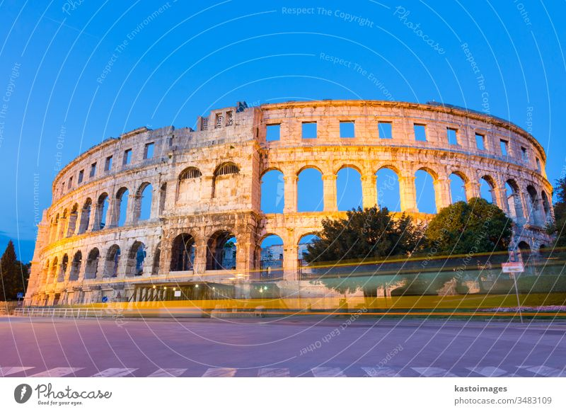The Roman Amphitheater of Pula, Croatia. pula landmark amphitheater arena pula arena ancient arch archaeological archeology world heritage site architecture