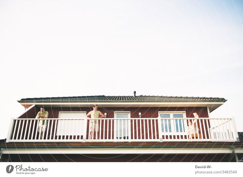times 3 on balconies Man Balcony drillings Creativity three in a threesome all good things come in threes schillen depend tranquillity Quarantine balcony rail